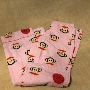 Paul frank size S . pink flannel pajama bottoms.